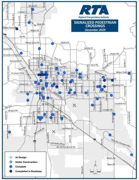 RTA Signalized Pedestrian Crossing Graphic